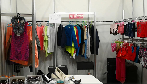 garment stock in the show